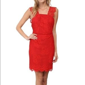 For Love & Lemons Tiki NWT Red Lace Dress